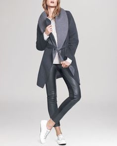 Dylan Gray double face wrap coat, $398, available at Bloomingdale's.