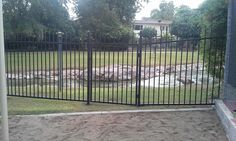 Community pools are often exposed to more elements and environmental impacts than backyard pools, which can lead to problems like wear and rust that likely leave the #pool barriers not up to code. DCS Pool Barriers replaced the community pool's wrought iron #fences that had rusted out, and brought them up to code.