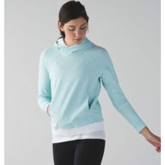 Lululemon Light Blue Hoodie NWOT, gorgeous light blue. Lululemon functionality meets chic styling. See last pic for full description. Size 4, sold out online. lululemon athletica Jackets & Coats