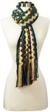 "Prana Women's Boni Scarf, Blue, One Size by prAna. $42.00. Soft and warm. Acrylic. Tassel edges. Bright and colorful Zig zag design. 7"" wide x 83"" Long. prAna Living"