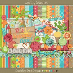 Loving Summer Digital Scrapbook Kit By Dandelion Dust Designs #DandelionDustDesigns #DigitalScrapbooking #Loving Summer #GingerScraps