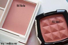 MAC powder blush Mocha v/s NYX Powder Blush Spice