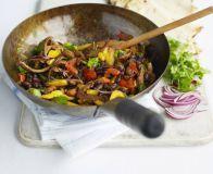 Stir-fry chilli beef wraps