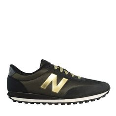 new balance 410 // black & gold ✓