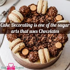 #cake decorating is one of the sugar #arts that uses #chocolates.#sweet #gift #bookthesurprise