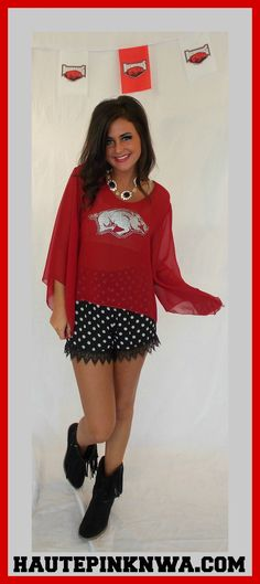 Shop Game Day Apparel On Our Website @:  http://hautepinknwa.com/collections/gameday  #Game Day #Arkansas #Razorbacks