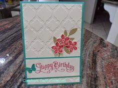 Carolyn's Card Creations: Happy Birthday with Petite Petals