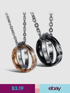 6ef6b3a84beb0 Necklaces   Pendants Interlocking Ring His And Hers Matching Promise  Eternal Love Couple Necklace Top