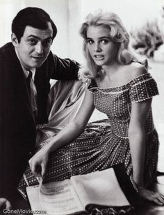 Stanley Kubrick and Sue Lyon on Lolita set