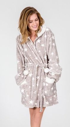 PJ Salvage Luxe Stars Hoodie Robe be592021a
