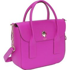 Kate Spade New York flap satchel handbag in stunning pink. $448