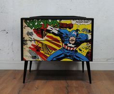 Black. Decoupage. Marvel comics.