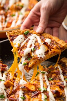 "02 ""CPK BBQ Chicken Skillet Pizza"" Recreate the CPK fave with this insanely delicious homemade pie. Get the recipe from Delish. Copycat Recipes, Pizza Recipes, Beef Recipes, Great Recipes, Cooking Recipes, Favorite Recipes, Recipies, Chicken Recipes, Chicken Ideas"