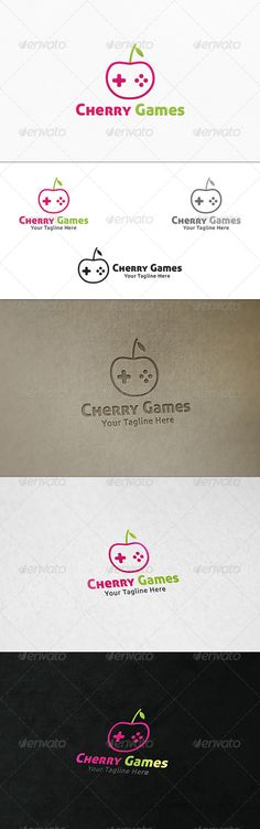 Cherry Games  Logo Template — Vector EPS #PC games #game store • Available here → https://graphicriver.net/item/cherry-games-logo-template/7700949?ref=pxcr