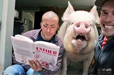 """Man Writes Sweetest Letter To The Pig Who Changed His Life  """"In a world full of people who couldn't care less, be someone who couldn't care more."""" -Unknown. #BeKindToAnimals"""