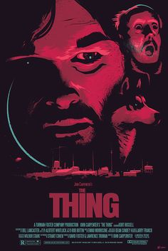 "A 24""x36"" poster created for the 30th anniversary of The Thing premiere. 4-colour screen print on deep purple paper."