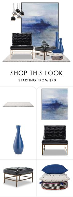 """Chair and ottoman challenge"" by chimechn on Polyvore featuring interior, interiors, interior design, home, home decor, interior decorating, Universal Lighting and Decor, Crate and Barrel, Mitchell Gold + Bob Williams and Regina-Andrew Design"