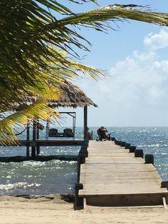 View from Maya Beach breakfast. Maya beach hotel Belize #mayabeachhotel