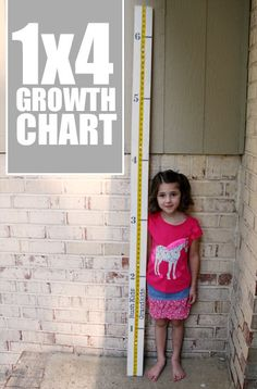 1 x 4 Wood Growth Chart - SignsbyAndrea.com