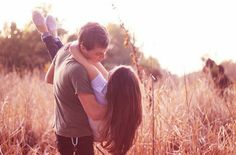 country, couple, cuddle, cute, field