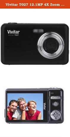 Vivitar T027 12.1MP 4X Zoom Digital Camera Black. The Vivitar VT027 BLACK Vivicam 12.1MP Digital Camera has multiple options and professional features that will ensure the best quality photos and videos. The VT027 comes with a large preview screen that captures 12.1 megapixel resolutions for crisp photos. Enjoy the high quality 4x zoom that allows you to capture every detail in photos and produce large prints. This camera has a smile capture feature which allows the camera to…