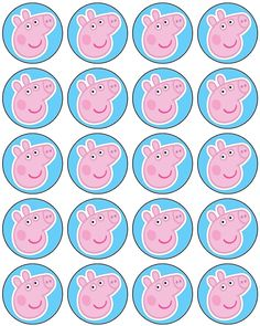 Free to use and free to share for personal use only. Free to use and free to share for personal use only. Pig Birthday, 4th Birthday Parties, Birthday Ideas, Pig Cupcakes, Peppa Pig Cupcake, George Pig Party, Cumple Peppa Pig, Party Time, Picnic Recipes