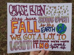 I Wont Give Up Lyric Drawing by TaylorandEmilysEtsy on Etsy, $5.00