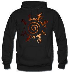 Naruto inspired Fox Kyuubi seal Hoodie Hooded by MuckiDesign