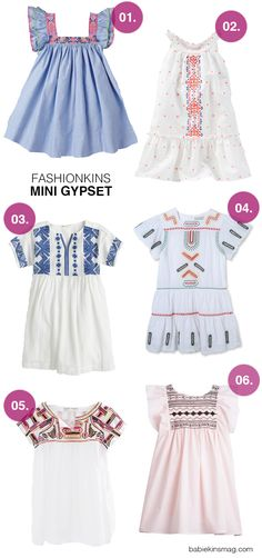 Mini Gypset: easy breezy boho kids dresses perfect for every summer occasion (01. Nellystella | 02. OshKosh B'Gosh | 03. Crewcuts | 04. Stella McCartney Kids | 05. Zara Kids | 06. Bonpoint)