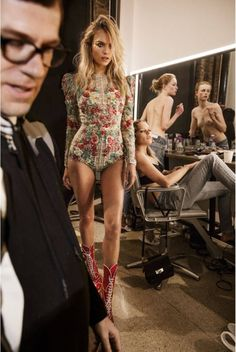 Natasha Poly (wearing Zuhair Murad) by Inez Van Lamsweerde & Vinoodh Matadin for Vogue Paris June /July 2016.