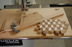 60 Degree Band Saw Sled for wood inlay bandings and parquetry