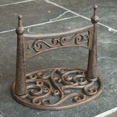 Ornate Cast Iron Boot Scraper