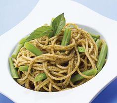 ¿Sabías que…? Los ejotes también se conocen como judías verdes o chauchas. Disfrútalos en este sabroso espagueti con pesto y ejotes. | Receta completa en www.cocinavital.mx
