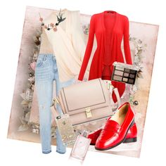 A fashion look from February 2015 featuring Miss Selfridge blouses, River Island jeans and Manolo Blahnik flats. Browse and shop related looks.