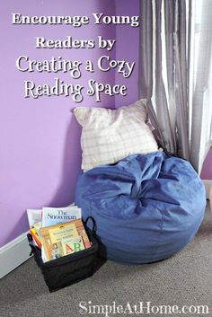 Encourage Young Readers by Creating a Cozy Reading Space - Simple At Home