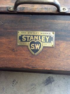 Antique Vtg Stanley Sweetheart Tools Wooden Tool Box w Brass Hardware | eBay