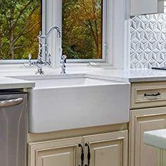 Fireclay Butler L X W Farmhouse Kitchen Sink – Farmhouse Sink Kitchen White Kitchen Sink, Apron Sink Kitchen, Farmhouse Sink Kitchen, Farmhouse Decor, Kitchen Sinks, Modern Farmhouse, Bar Sinks, Fireclay Farmhouse Sink, Cozy Kitchen