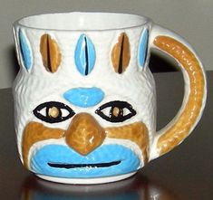Rare Antique 1960 Holt Howard Totem Pole Face Mug