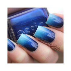 32 Ombre nail art style Best Pic ❤ liked on Polyvore featuring beauty products, nail care and nail treatments