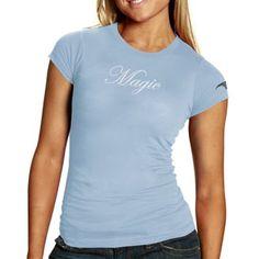 Sportiqe Orlando Magic Ladies Light Blue Script Premium T-shirt