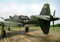 Dornier (Do-335) / Pfeil (Arrow): This was a heavy fighter aircraft. There was also a two-seater trainer version called Ameisenbär or (Anteater).