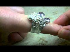 Gregory Pyra Piro Ring 8442, Guld och Silver, Ametist, Pärla