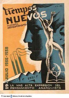 Tiempos nuevos : número extraordinario : 19 de julio 1936-1938, la más alta expresión del pensamiento anarquista :: Cartells del Pavelló de la República (Universitat de Barcelona)