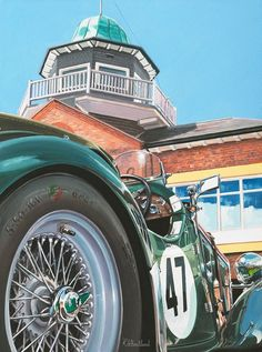 Brooklands Singer painting by Richard Wheatland