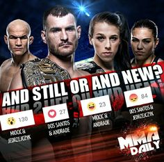 Yesterday we asked you will it be #AndStill or #AndNew in #UFC211's title fights? The majority believe both Champs will be victorious tonight!! Enjoy the fights! #FightDay #mma #ufc