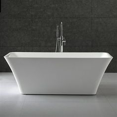 "Tiffany 67"" Large Soaking Bathtub by Wyndham Collection 