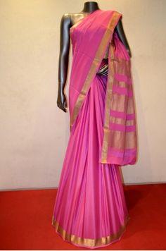 Pink Pure Mysore Crepe Silk Saree Product Code: AC208433