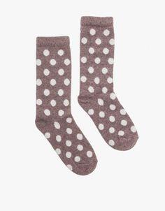 ++ Bea Polka Dot Crew Socks