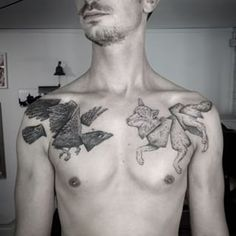 Or some abstract wildlife. | 49 Bloody Brilliant Black And Grey Tattoo Ideas