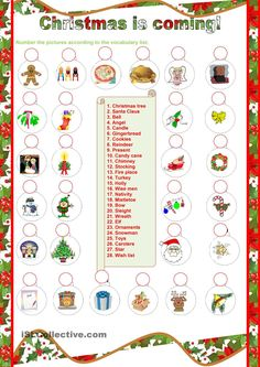 Christmas fun activities for young students with three tasks. Merry Christmas to all! English Christmas, Merry Christmas To All, Christmas Is Coming, Christmas Tag, Christmas Crafts, Xmas, Christmas Quiz, Christmas Writing, English Primary School